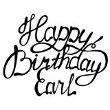 Happy birthday Earl name lettering Royalty Free Stock Images