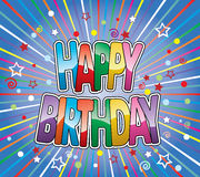 vector happy birthday greeting Stock Images