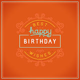 Vector happy birthday greeting card design Royalty Free Stock Photography