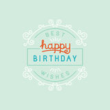 Vector happy birthday greeting card Royalty Free Stock Photo