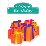Vector happy birthday label Stock Image