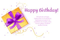 Free Vector Happy Birthday Poster Present Box Template Royalty Free Stock Images - 110066989