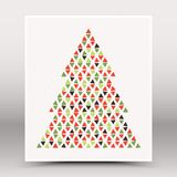 Vector Happy Christmas Hand Made Poster Royalty Free Stock Photos