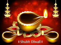 Vector happy Diwali Background Stock Images