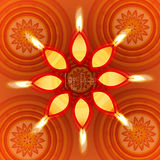 Vector happy diwali diya card Stock Images