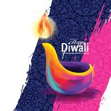 Vector happy diwali. Vector illustration on the theme of the traditional celebration of happy diwali. Deepavali light and fire festival Royalty Free Stock Photography