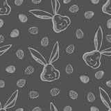 Vector Happy Easter seamless pattern Stock Photos