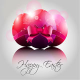 Vector Happy Easter Eggs in Pink Color Royalty Free Stock Photos