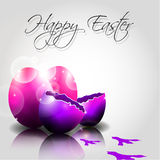 Vector Happy Easter Eggs with traces of chicken. With place for text Royalty Free Stock Image