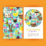 Vector Happy Easter Flyer Templates Stock Photos
