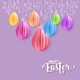 Vector Happy Easter Greeting Card Royalty Free Stock Photo