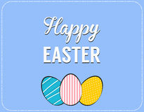 Vector Happy Easter greeting card. Royalty Free Stock Images