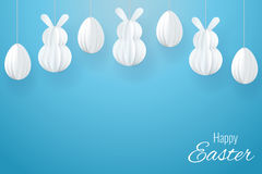 Vector Happy Easter Greeting Card Royalty Free Stock Photos