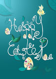 Vector Happy Easter hand lettering Stock Photo