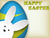 Happy Easter Rabbit Bunny Easter Egg Retro Stock Image