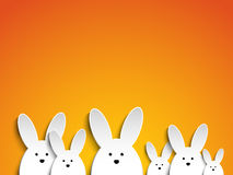 Happy Easter Rabbit Bunny on Orange Background Royalty Free Stock Images