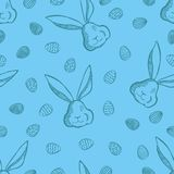 Vector Happy Easter seamless pattern Royalty Free Stock Images