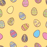 Vector Happy Easter seamless pattern Royalty Free Stock Photos