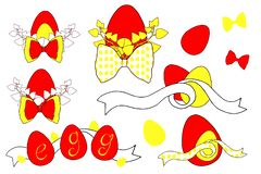 Vector Happy Easter templates with eggs, flowers, floral branches, and typographic design. Good for spring and Easter vector illustration