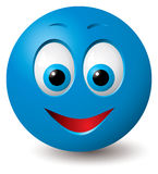 Vector: Happy face. Vector: Happy blue smiley face (CMYK colors used Stock Illustration