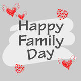 Vector happy family day with background grey. Vector image happy family day with background grey Stock Photography