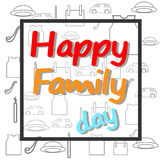 Vector happy family day. Vector image happy family day with ornament Royalty Free Stock Photo