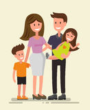 Vector happy family Royalty Free Stock Images