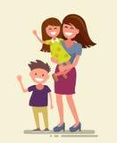 Vector happy family Stock Photos