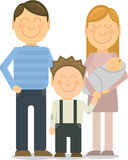 Vector Happy family portrait gesturing with Stock Images