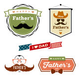 Vector Happy Father's day colorful labels Stock Photography