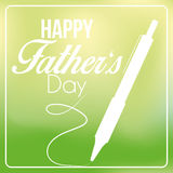 Vector Happy Father's Day Template Card Background Stock Photos