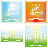Vector Happy Father's Day Template Cards Background Stock Photos