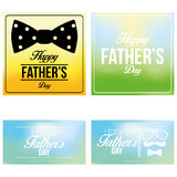 Vector Happy Father's Day Template Cards Background Stock Photography