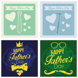 Vector Happy Father's Day Template Cards Background Royalty Free Stock Photos