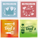 Vector Happy Father's Day Template Cards Background Royalty Free Stock Image