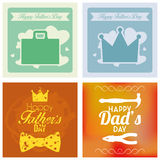 Vector Happy Father's Day Template Cards Background Royalty Free Stock Photo