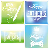 Vector Happy Father's Day Template Cards Background Stock Images
