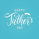 Vector Happy Fathers Day calligraphic inscription for greeting card, festive poster etc. Hand lettering illustration. Vector Happy Fathers Day calligraphic Stock Images