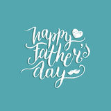 Vector Happy Fathers Day calligraphy for greeting card, festive poster etc. Vector Happy Fathers Day calligraphy for greeting card, festive poster etc Royalty Free Stock Images