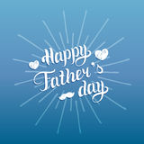 Vector Happy Fathers Day calligraphy for greeting card, festive poster etc. Vector Happy Fathers Day calligraphy for greeting card, festive poster etc Royalty Free Stock Image
