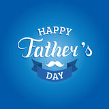 Vector Happy Fathers Day calligraphy for greeting card, festive poster etc. Vector Happy Fathers Day calligraphy for greeting card, festive poster etc Stock Image