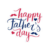 Vector Happy Fathers Day calligraphy for greeting card, festive poster etc. Vector Happy Fathers Day calligraphy for greeting card, festive poster etc Royalty Free Stock Photos