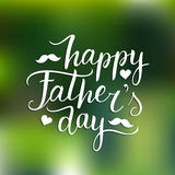 Vector Happy Fathers Day calligraphy for greeting card, festive poster etc. Vector Happy Fathers Day calligraphy for greeting card, festive poster etc Stock Photography