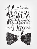 Vector Happy Fathers Day card Royalty Free Stock Photo