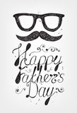 Vector Happy Fathers Day card Stock Photos