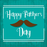 Vector Happy Fathers Day celebration card Royalty Free Stock Photo