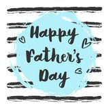 Vector Happy fathers day greeting card on blue background royalty free illustration