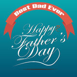 Vector of Happy fathers day Royalty Free Stock Images