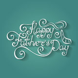 Vector Happy Fathers's Day Inscription with Cravat Royalty Free Stock Photo