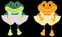 Vector happy frogs Royalty Free Stock Image